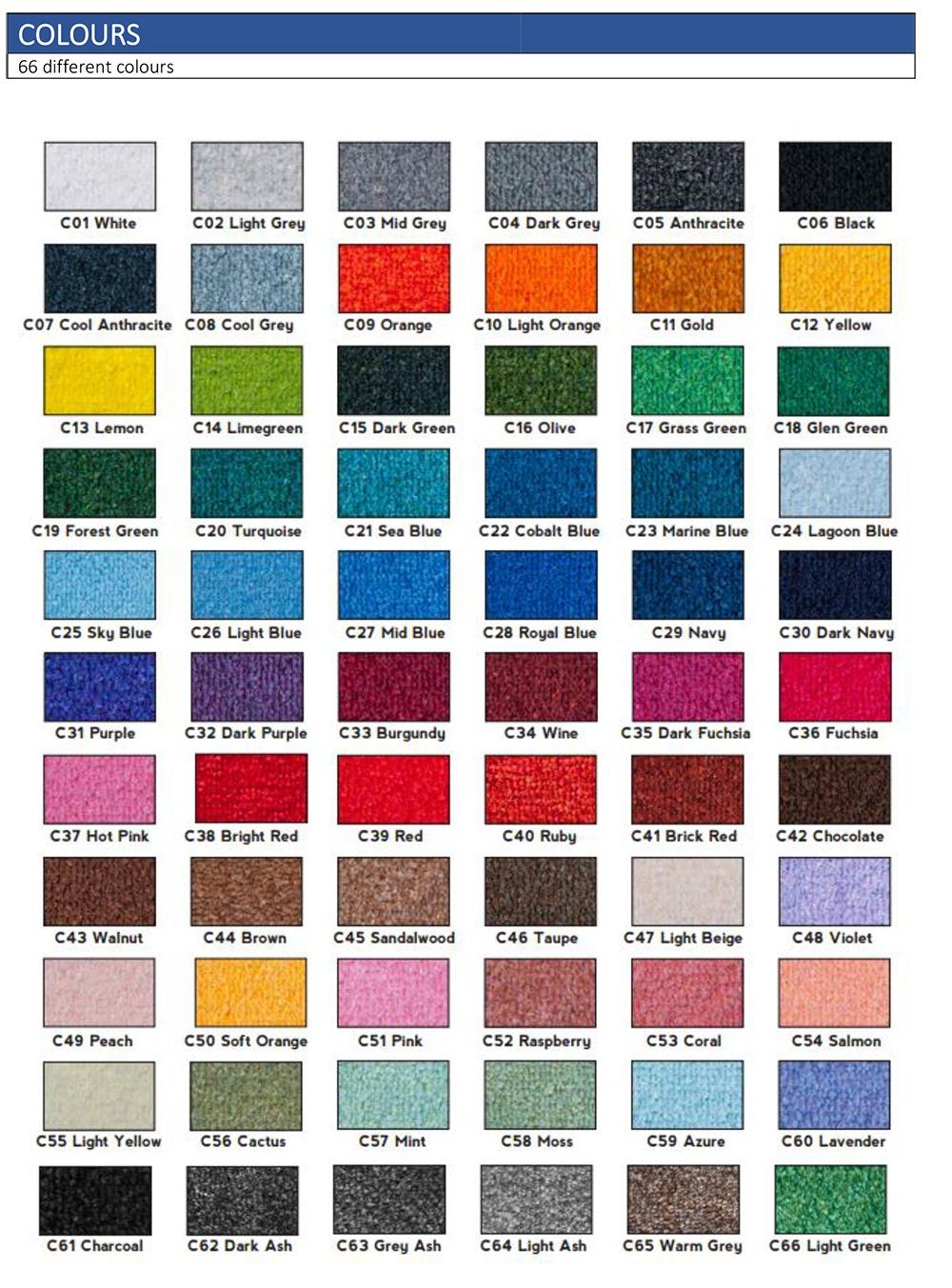 Kleuren tapijt